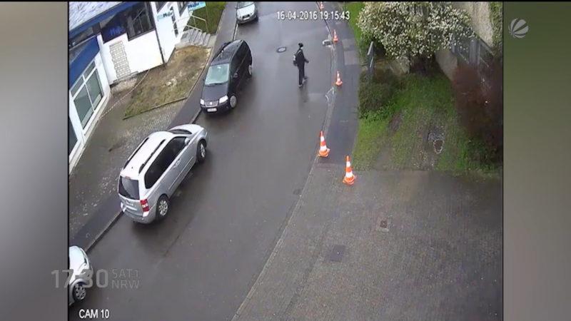 Polizei sucht weiter (Foto: SAT.1 NRW)