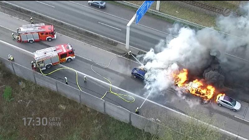 Horror-Unfall auf A42 (Gelsenkirchen) (Foto: SAT.1 NRW)