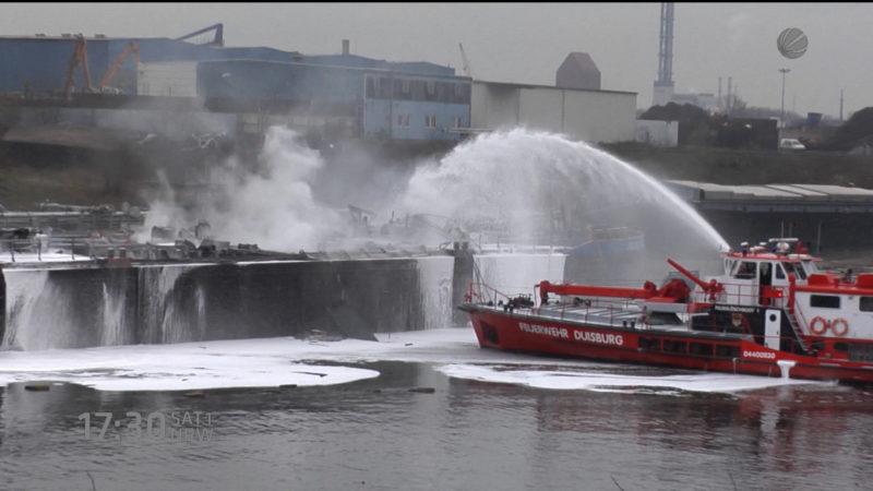 Ursache für Tankschiffexplosion gefunden? (Foto: SAT.1 NRW)