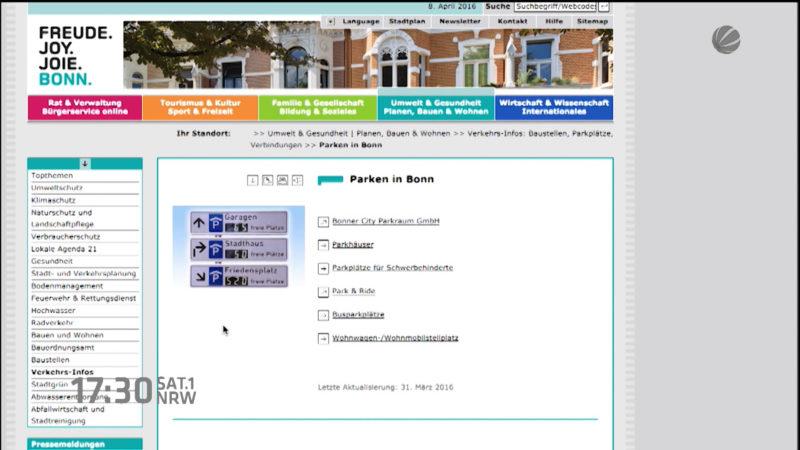 Online-Seiten von Städten getestet (Foto: SAT.1 NRW)