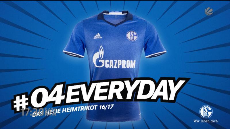 Das neue Schalke-Trikot (Foto: SAT.1 NRW)