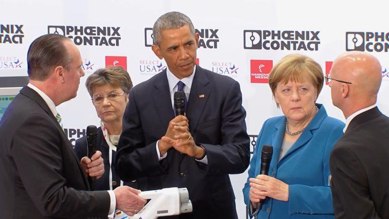 Barack Obama besucht Köln (Foto: SAT.1 NRW)