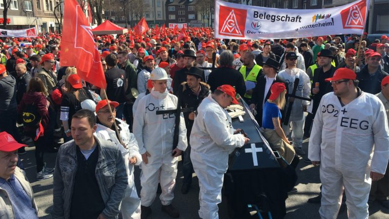 Unsichere Zukunft für Stahlbranche (Foto: SAT.1 NRW)