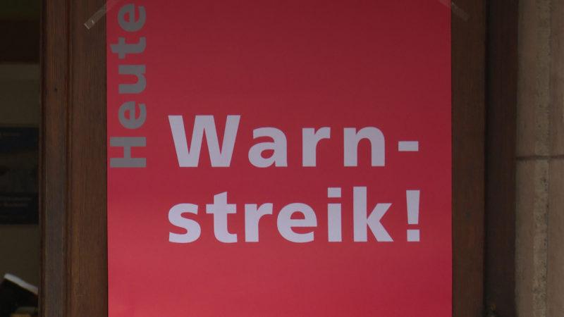 Commerzbank-Mitarbeiter streiken (Foto: SAT.1 NRW)