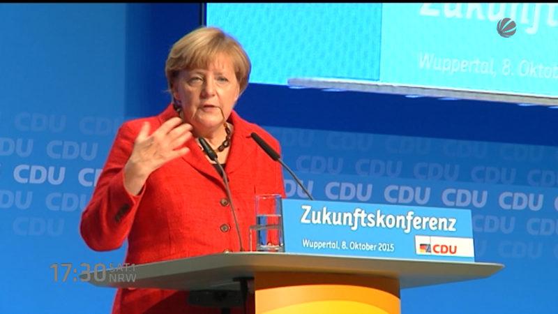 Stimmung gegen Merkel (Foto: SAT.1 NRW)