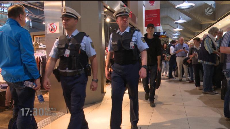 Erhöhte Sicherheitsstufe an Flughäfen (Foto: SAT.1 NRW)