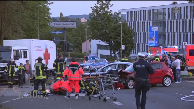 Illegales Rennen in Hagen (Foto: SAT.1 NRW)