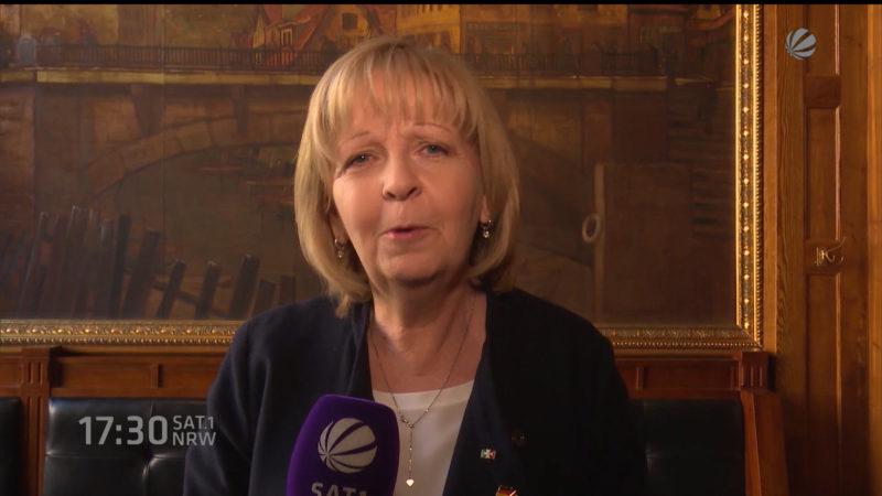 Interview mit Ministerpräsidentin Hannelore Kraft (Foto: SAT.1 NRW)