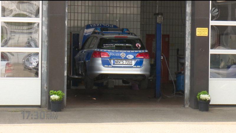 Private Arbeiten in Polizei-Werkstatt? (Foto: SAT.1 NRW)