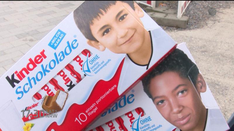 Pegida gegen Kinder-Schokolade (Foto: SAT.1 NRW)