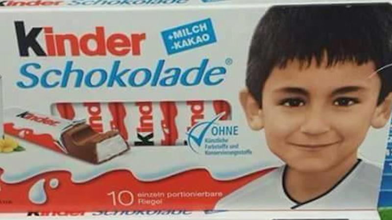 EM-Spieler auf Kinderschokolade (Foto: Facebook)