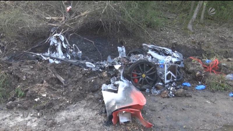 Ferrari ausgebrannt (Foto: SAT.1 NRW)