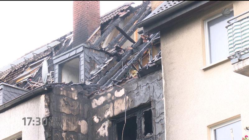 Ursache für Feuer in Duisburg (Foto: SAT.1 NRW)