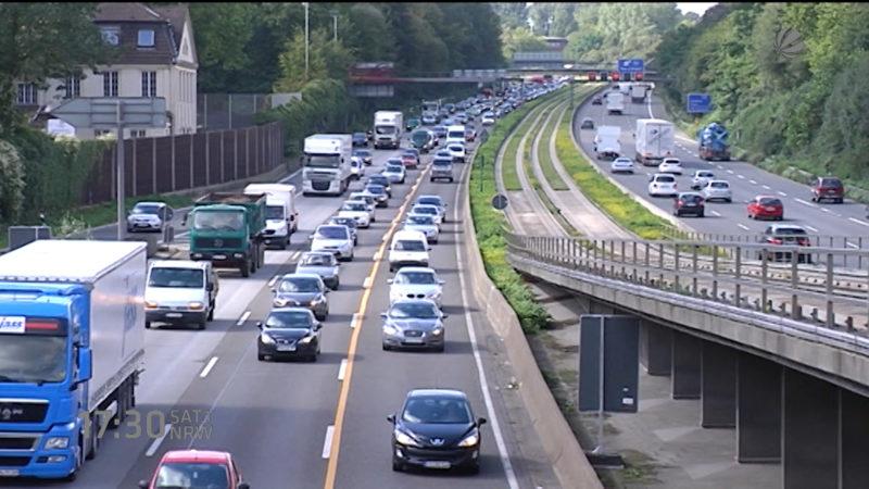Gefahrgut-Unfall auf der A2 (Foto: SAT.1 NRW)