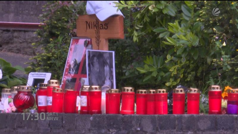 Trauer um Niklas P. (Foto: SAT.1 NRW)
