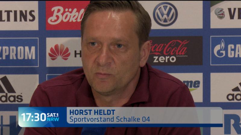Abschiedspressekonferenz von Horst Heldt (Foto: SAT.1 NRW)