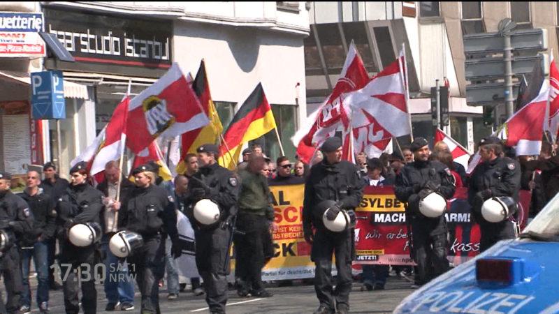 1.Mai - Ausschreitungen in Bochum (Foto: SAT.1 NRW)