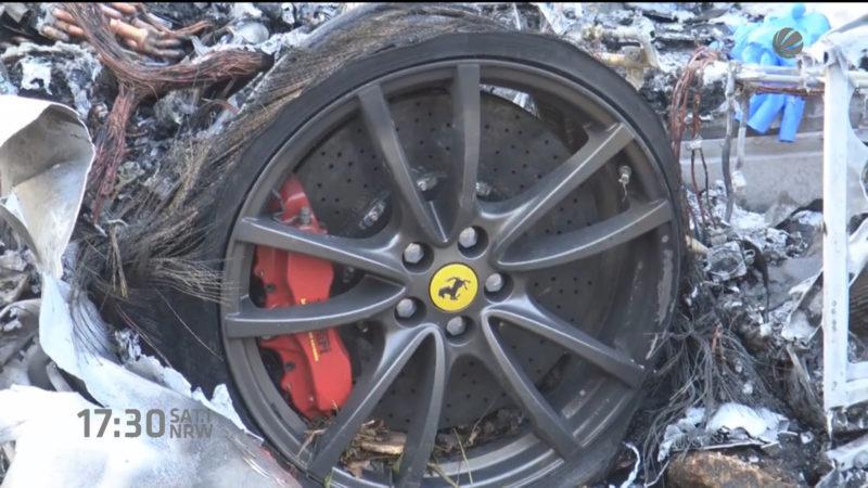 Opfer aus verbrannten Ferrari ist bekannt (Foto: SAT.1 NRW)