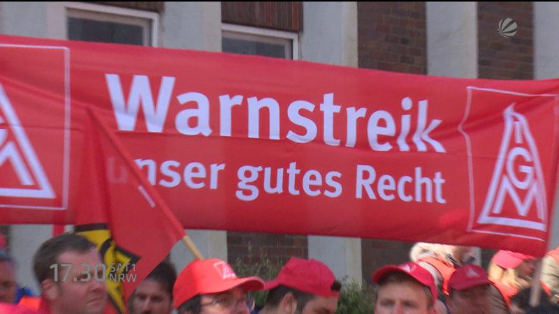 IG Metall Warnstreiks (Foto: SAT.1 NRW)