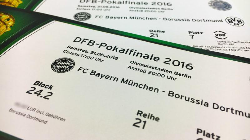Karten für's Pokalfinale (Foto: SAT.1 NRW)
