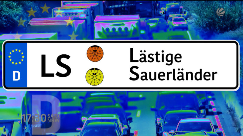 Miese Autofahrer in Dortmund (Foto: SAT.1 NRW)