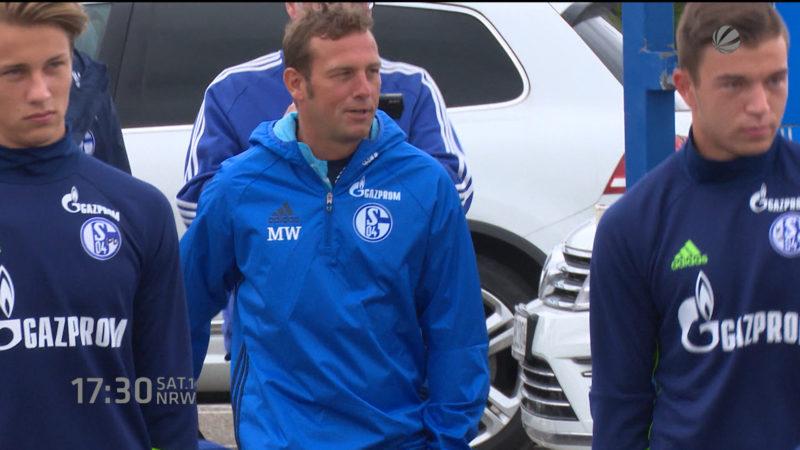 Schalke-Trainingsauftakt mit Weinzierl (Foto: SAT.1 NRW)
