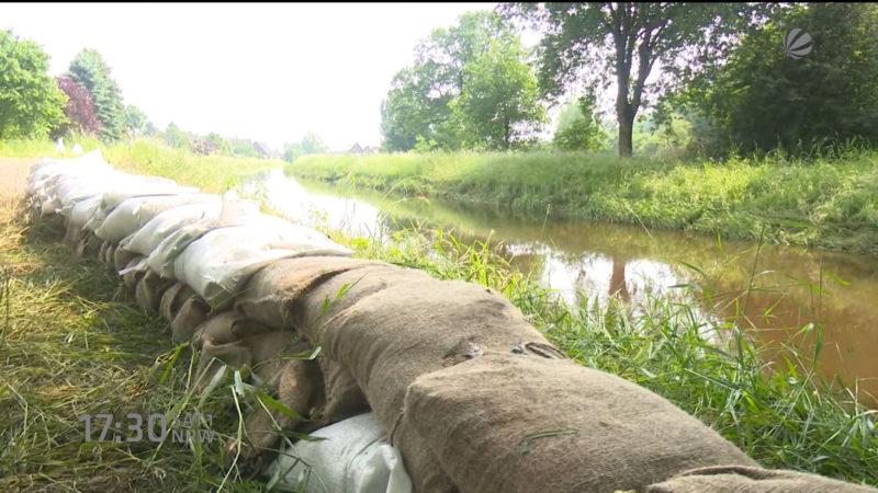 Überflutungsproblem in NRW (Foto: SAT.1 NRW)