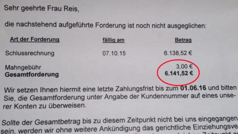 6000 Euro Stromnachzahlung (Foto: SAT.1 NRW)