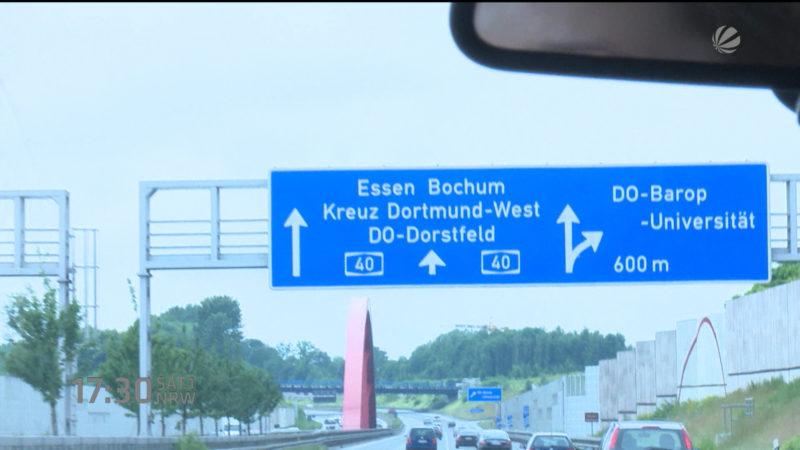 BAYER-ALLEE ODER THYSSEN-HIGHWAY? (Foto: SAT.1 NRW)