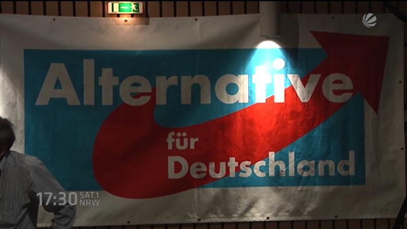 Protest gegen AFD-Presseboykott (Foto: SAT.1 NRW)