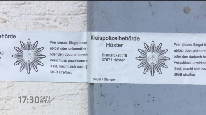 Mordkommission hat Beweise in Horror-Haus gesammelt (Foto: SAT.1 NRW)