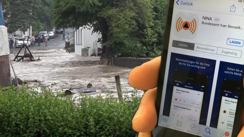 Katastrophenschutz per App (Foto: SAT.1 NRW)