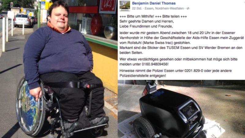Rollstuhlfahrer beklaut (Foto: SAT.1 NRW)