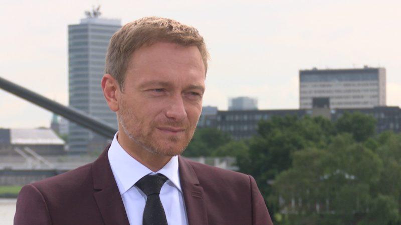 Christian Lindner im SAT.1 NRW-Interview (Foto: SAT.1 NRW)
