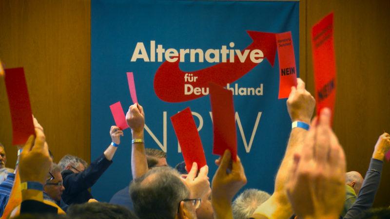 AfD wird Veranstaltungsort gekündigt (Foto: SAT.1 NRW)