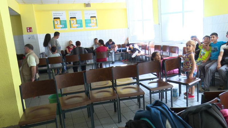 Ankunftszentrum für Asylbewerber (Foto: SAT.1 NRW)