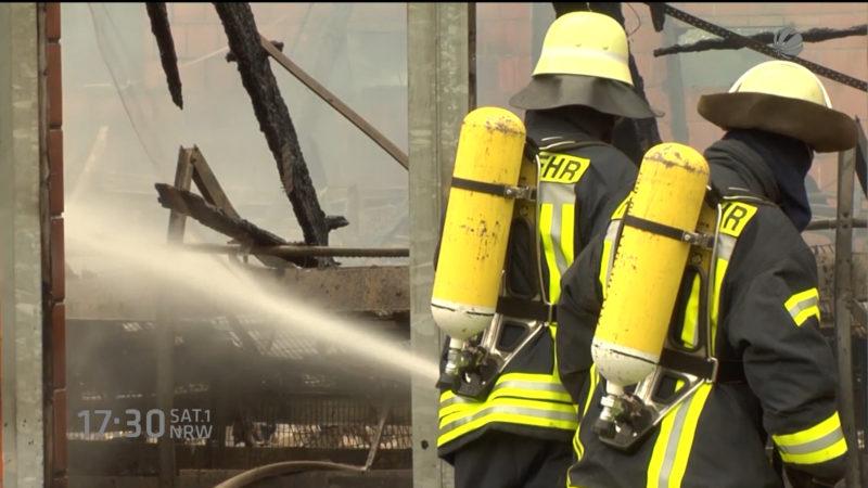 Brandstiftung in Bocholt? (Foto: SAT.1 NRW)