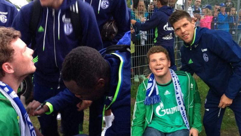 Schalke-Fan bekommt Selfies mit Stars (Foto: SAT.1 NRW)
