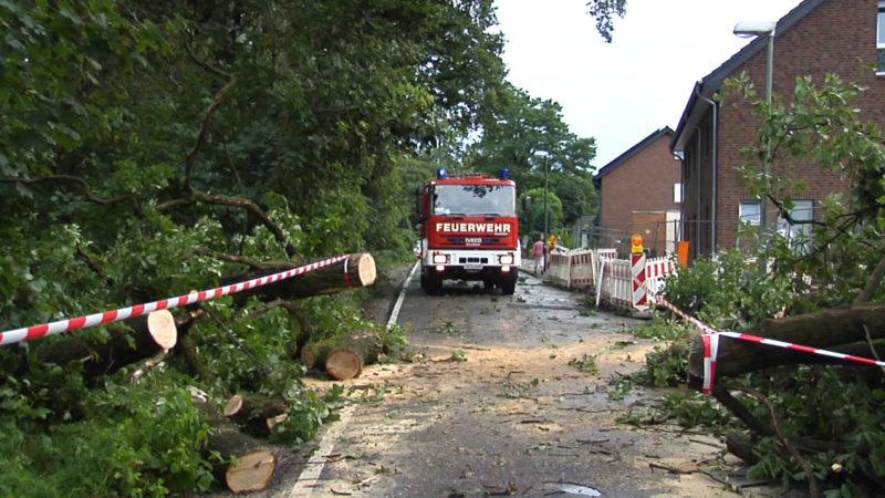 Unwetterschäden in NRW (Foto: SAT.1 NRW)