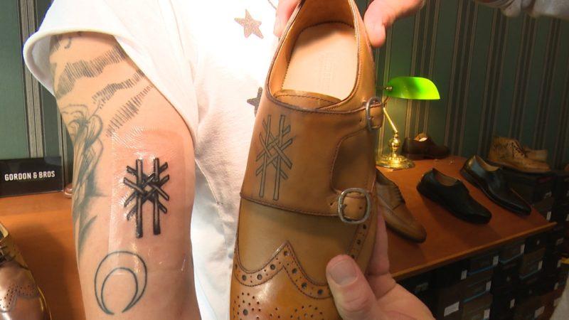 Tätowierte Schuhe (Foto: SAT.1 NRW)