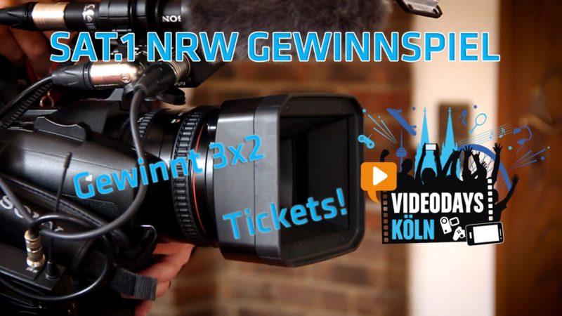 Tickets für die Videodays gewinnen! (Foto: SAT.1 NRW)