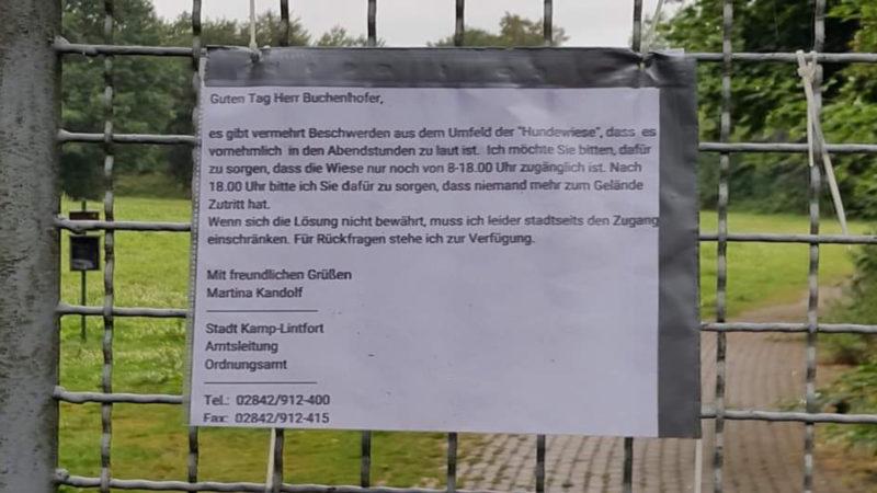 Ärger um Hundwiese (Foto: SAT.1 NRW)