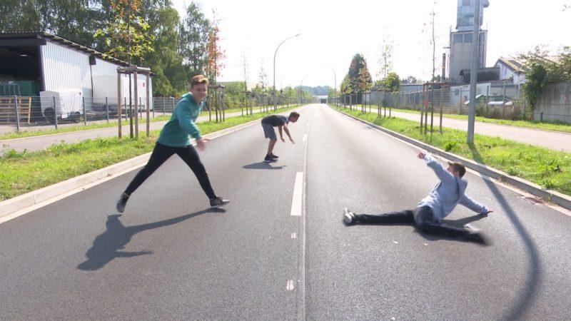 Einsamste Straße in NRW (Foto: SAT.1 NRW)
