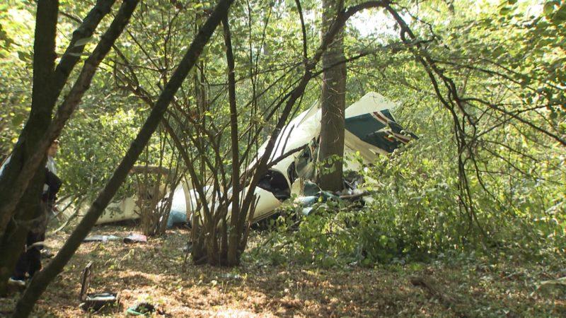 Kleinflugzeug stürzt ab (Foto: SAT.1 NRW)