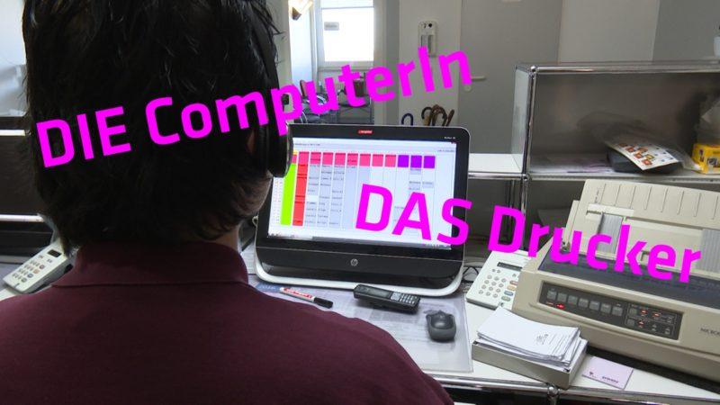 Arbeiten wir bald mit die ComputerIn? (Foto: SAT.1 NRW)