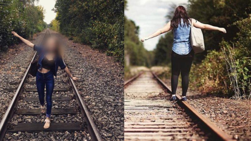 Foto-Trend: Jugendliche auf Gleisen (Foto: Instagram)