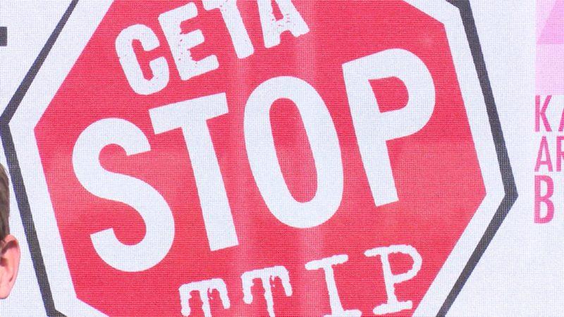 Demo gegen TTIP in Köln (Foto: SAT.1 NRW)