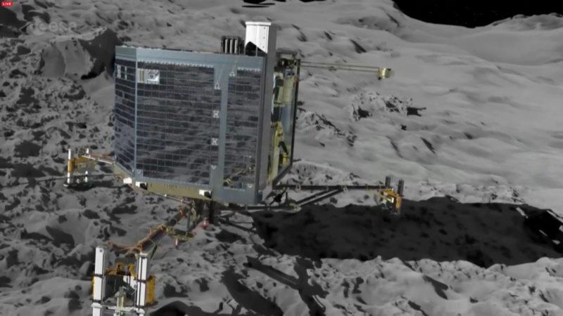 Weltraum-Crash (Foto: ESA)