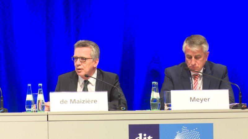Bundesinnenminister fordert mehr Einigkeit (Foto: SAT.1 NRW)