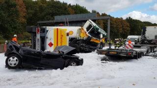LKW-Unfall auf A4 (Foto: SAT.1 NRW)